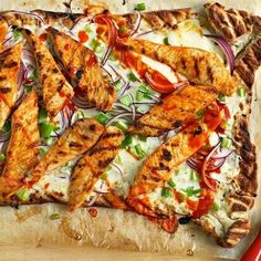 Buffalo Chicken Pizza #superbowl #dinner #supper #party