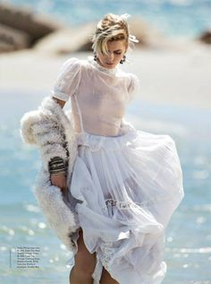 Vogue Australia April 2014 | Abbey Lee Kershaw by Gilles Bensimon