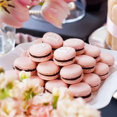 There's nothing more delicate and lovely than a #macaroon. That's why they're the perfect treat for a baby shower or a nice tea party!