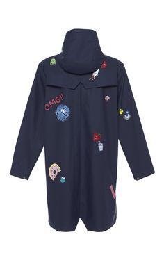 Hand-Painted Raincoat by Mira Mikati for Preorder on Moda Operandi