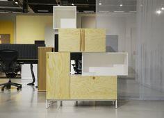 Tetris med fronter i plywood