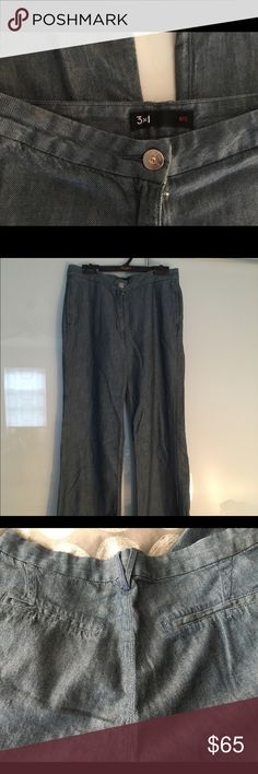 3x1 Lightweight denim trousers. Barely worn.  Too tight, but only because i'm more like a 30, not a 27. 3x1 Jeans Flare & Wide Leg
