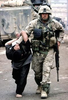 Dragging children by their collar. Who are the real 'Terrorist'?
