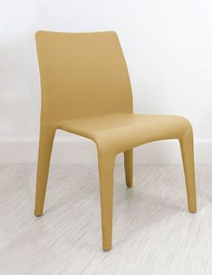 Argenta Coloured Faux Leather Dining Chair in Mustard Yellow from Danetti.
