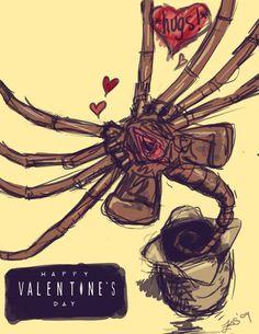 Face-hugger valentine