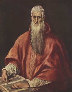 San Jerónimo como cardenal 1600. National Gallery Londres.