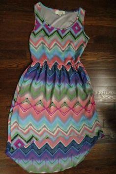 9142bd8ade0 Olive   Oak Dress Chevron Small Green Pink Blue Gray Sleeveless Stitch Fix   OliveOak