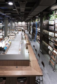 Image 17 of 22 from gallery of Kyobo Book Center & Hottracks / WGNB. Photograph by Taeho Jung Public Library Design, Bookstore Design, Grand Library, Library Cafe, Book Cafe, Traditional Home Offices, Traditional Kitchens, Bookshelf Design, Design Desk