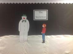 Beginning of a literacy snowman display
