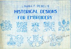 Gallery.ru / Фото #1 - Louisa F. Pesel's Historical Designs for Embroidery - Dora2012