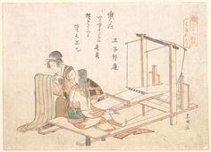 Katsushika Hokusai: The Weaving Factory - Metropolitan Museum of Art
