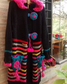 Crochet Coat, Form Crochet, Afghan Patterns, Crochet Patterns For Beginners, Crochet Fashion, Irish Crochet, Knit Cardigan, Crochet Necklace, Pullover