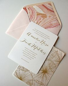 Gold Calligraphy Wedding Invitation White Starfish by oakandorchid, $8.00 Gorgeous Invitations!!
