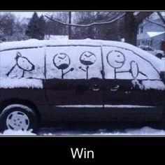 Very creative snow art