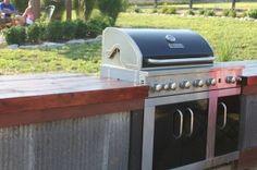 DIY outdoor kitchens. Tons of ideas.