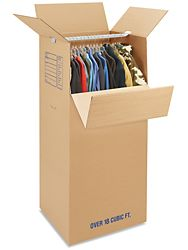 """24 x 22 x 60"""" Double Wall 51 ECT Wardrobe Corrugated Boxes - $20 for 5"""