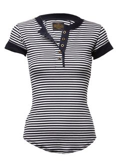 Sheehan & Co. Womens Nautical Stripe Henley