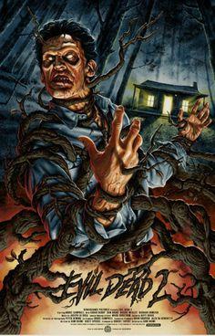 Evil Dead vinyl decal sticker horror movie 70/'s retro  Army of Darkness Bruce
