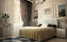 Изысканная классическая кровать Fellini - изогнутое изголовье и никаких лишних деталей!