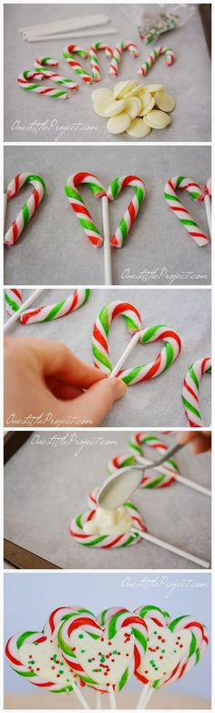 Candy Cane Hearts - Red Sky Food. Only a little afraid that I'd eat all of these before giving them away.