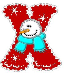 *✿**✿*X*✿** Christmas Alphabet, Christmas Clipart, Christmas Themes, All Things Christmas, Frosty The Snowmen, Snowman, Make A Flake, Printable Letters, Alphabet And Numbers