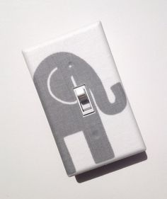 Elephant Nursery Decor / Gray and White Light Switch by SSKDesigns, $8.00