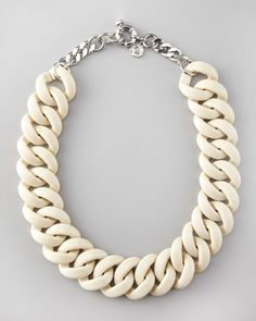 Candy Turnlock Necklace, Beige by Marc By Marc Jacobs at Neiman Marcus.