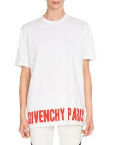 GIVENCHY Givenchy Paris Graphic Tee, White/Red. #givenchy #cloth #