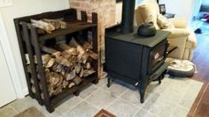 Indoor firewood storage from pallets