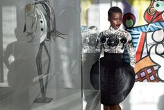 ' Lupita Nyong'o in Gaultier Paris Couture photographed by Mert Alas and Marcus Piggott for Vogue US, October Fashion News, High Fashion, Fashion Beauty, Feminine Fashion, Women's Fashion, Fashion Design, Alas Marcus Piggott, Lupita Nyongo, Vogue Us
