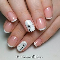 These new ideas for 2019 represent the great variety of the French tip manicure. Combining different French manicure nail designs makes nails look unique through the time. French Manicure Nail Designs, French Nail Art, Pedicure Nail Art, French Tip Nails, Manicure And Pedicure, Diy Nails, Nail Art Designs, Manicure Ideas, French Pedicure