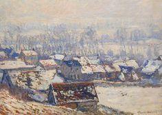 Le Village de Giverny sous la neige ( C Monet -W 1055),1885-1886.