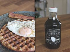 Raised waffles with Patterson Sugar Bush maple syrup