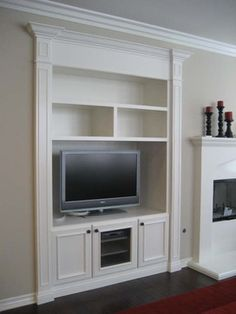 Elegant Like The Glass In This One As A Possibility. Living Room Built In Cabinets  Design