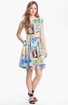 kate spade new york mariella stretch cotton fit & flare dress