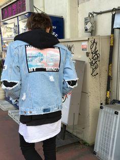 去年買ったMISBHVのデニムジャケットが やっときれました! これくらいの気温さいこーですね^ ^