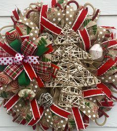Rustic Christmas Wreath, tree wreath, holiday wreath, winter wreath