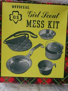 Great Vintage Girls Scouts Mess Kit Complete and In Original Box Vintage Girls, Vintage Toys, Girl Scout Troop, Scout Leader, Girl Scouts Of America, American Heritage Girls, Toys For Us, Paper Dolls Printable, Childhood Days