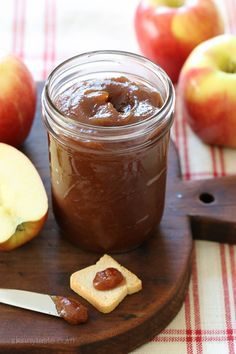 Did you know you can make apple butter in a crockpot? Put this delicious homemade treat in a mason jar for airtight storage.