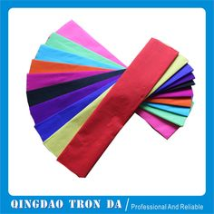 """""""Colorful crepe paper for flower packaging, gift wrapping, artwork paper"""""""