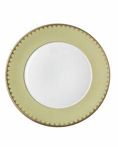 """L'Objet Aegean Dinner Plate, Pear, 10.5""""Dia.  $132"""
