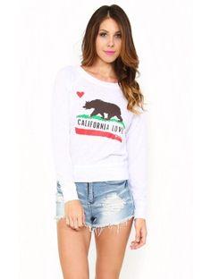 #CALIFORNIA #LOVE Graphic Pullover