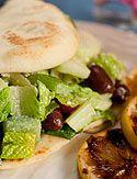 Greek Salad Sandwich with Creamy Lemon Dressing