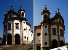 Igreja Nossa Senhora Rosário dos Pretos, construída e frequentada pelos escravos. Ouro Preto, Minas Gerais.