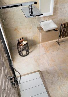 Ardesie Badgestaltung Mirage Steinzeug Fliesen Beige Dusche Bereich