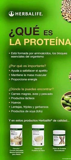 ¿que es la #proteína? #herbalife #productosherbalife