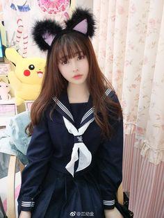 School Girl Japan, School Uniform Girls, Girls Uniforms, Japan Girl, Cute Asian Girls, Cute Girls, Cute Kawaii Girl, Cute Costumes, Kawaii Clothes