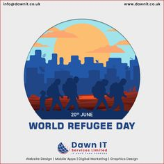 "Thus, on this World Refugee Day 👩🏻‍🌾, let us take time to recognize and draw inspiration 👍🏻 from these ordinary people who have shown such extraordinary courage💪 – the world's millions of refugees and displaced.""  #webapplicationdevelopment #mobileappdesign #digitalmarketing #openourcedevelopment #ecommercedevelopment Mobile App Development Companies, Mobile Application Development, Web Development, World Refugee Day, Custom Website, Mobile App Design, Seo Services, Watercolor Art, Digital Marketing"