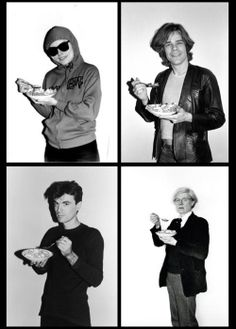 """Corn Flakes Series"" by Bobby Grossman, feat: Debbie Harry, David Johansen, David Byrne, Andy Warhol."