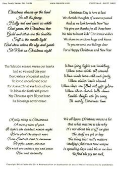 la pashe easy peely verses for cards christmas 3 more christmas card verses - Christian Christmas Card Sayings